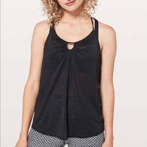 Lululemon Black Tighten Up Tank, sz 4